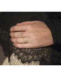 Anne Sisteron   14kt White Gold Diamond Triple Heartbeat Ring   Lyst