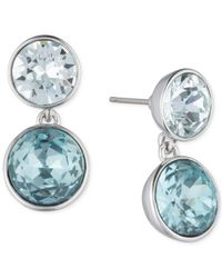 Givenchy - Silver-tone Blue Crystal Drop Earrings - Lyst