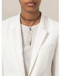 Isabel Marant - Black Bone Necklace - Lyst