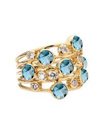 Ippolita Yellow Topaz  Diamond Constellation Ring