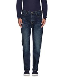 Golden Goose Deluxe Brand | Blue Denim Trousers for Men | Lyst