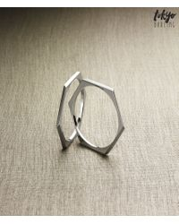 Tokyo Darling | Metallic Metal Bangle Bracelet Set | Lyst