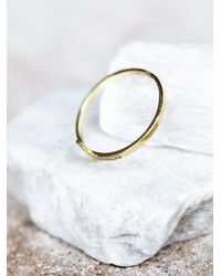 Free People - Metallic Diamond Cross Ring - Lyst