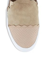 Klub Nico Natural Stassi Suede And Leather Flats