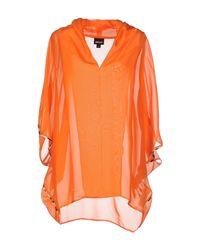 Just Cavalli - Orange Blouse - Lyst