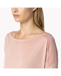 Tommy Hilfiger | Pink Cotton Viscose Draped Top | Lyst