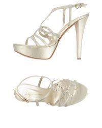 Acquamarine... Metallic Sandals