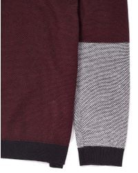Cheap Monday - Red Jumper With Contrast Sleeves for Men - Lyst