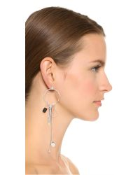 Wouters & Hendrix - Metallic Tiger Iron Pedant Earring - Silver - Lyst