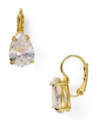 kate spade new york - Metallic Draped Jewels Pear Drop Earrings - Lyst