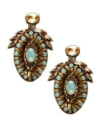 Deepa Gurnani - Metallic Earrings - Lyst