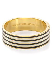 kate spade new york | Metallic No Strings Attached Idiom Bangle | Lyst