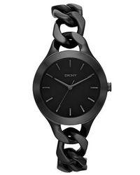 DKNY | Chic Black Ladies Chain Bracelet Watch | Lyst