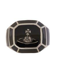 Vivienne Westwood Black Milton Ring for men