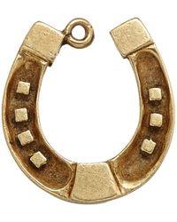 Annina Vogel Metallic Vintage Gold Wide Horseshoe Charm