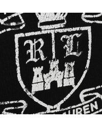 Ralph Lauren - Black Custom Fit Uneven Jersey T Shirt for Men - Lyst