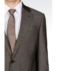 Armani | Gray Comfort Fit Suit In Virgin Wool for Men | Lyst