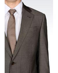 Armani | Gray Comfort Fit Suit In Virgin Wool for Men | Lyst