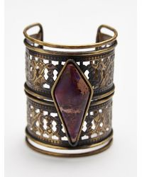 Free People - Purple Womens Caged Stone Cuff - Lyst