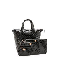MZ Wallace - Lacquered Large Metro Tote - Black - Lyst