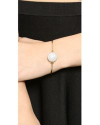 Michael Kors Metallic Top Tension Bangle Bracelet - Gold/Clear