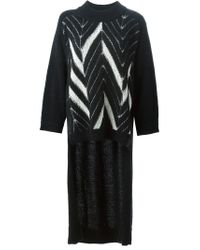Y-3 - Black High-low Hem Sweater - Lyst