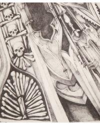 Alexander McQueen White Cathedral Print Silk Scarf