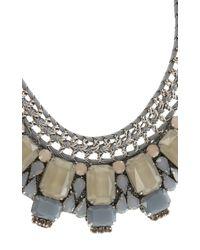 Karen Millen - Gray Statement Necklace - Lyst