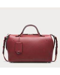 Bally Kissen Medium Women's Leather Bowling Bag In Red