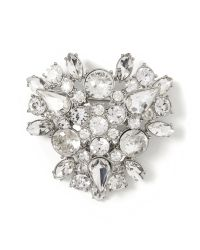 Banana Republic | White Sparkle Cluster Pin | Lyst