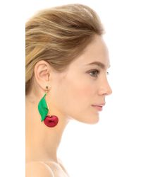 Erickson Beamon | Red Cherry Pie Earrings - Cherry Multi | Lyst