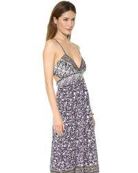 Rebecca Taylor Purple Floral Maxi Dress Aubergine Combo