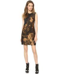 3.1 Phillip Lim Metallic Disintegrating Patchwork Sleeveless Dress