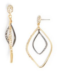 Alexis Bittar | Metallic Large Pavé Two Tone Double Drop Earrings - Bloomingdale's Exclusive | Lyst