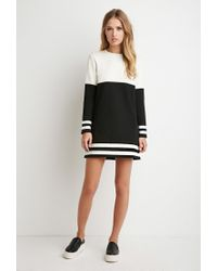 Forever 21 | Black Stripe-trim Colorblocked Dress | Lyst