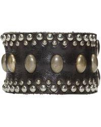 DSquared² | Black Studded Leather Bracelet for Men | Lyst