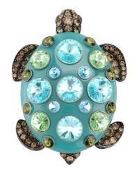 Lanvin | Green 'Borneo' Turtle Brooch | Lyst