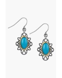 Sam Edelman - Blue Stone Filigree Drop Earrings - Turquoise - Lyst