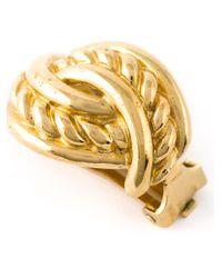 Burberry - Metallic Link Earrings - Lyst