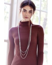 Urban Outfitters - Metallic Dripping Braid Chain Necklace - Lyst
