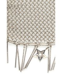Roberto Cavalli - Metallic Silver Lux Metal Mesh And Fringe Bracelet - Lyst