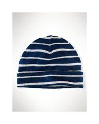 Polo Ralph Lauren | Blue Striped Cotton Hat | Lyst