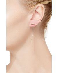 Hirotaka | Metallic Arrow Earring With Diamond Antelope Horn | Lyst