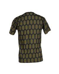 Comme des Garçons Green Honeycomb Print T-Shirt for men