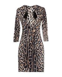 Just Cavalli - Multicolor Leopard Print Jersey Dress - Lyst