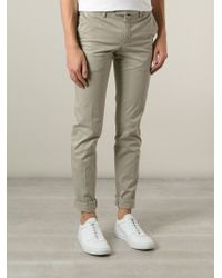 PT01 Natural Super Slim Fit Chino Trousers for men