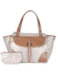 MZ Wallace | Metallic Faye Silver Glazed Linen | Lyst