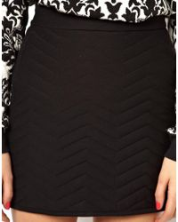 ASOS - Orange Aline Quilted Skirt - Lyst