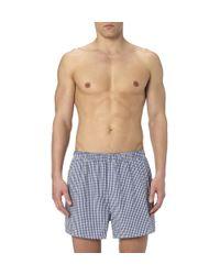 Sunspel - Blue Classic Cotton Boxer Shorts for Men - Lyst