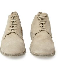 Guidi | Natural Suede Lace-Up Boots for Men | Lyst